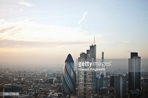 Looking South over London City : Stock Photo