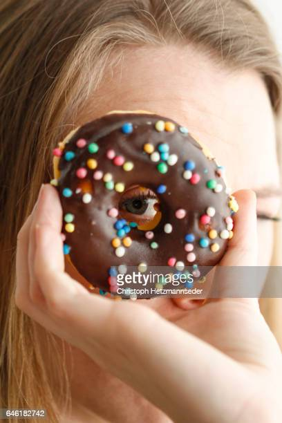 Looking through donut