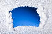 Looking through frozen window