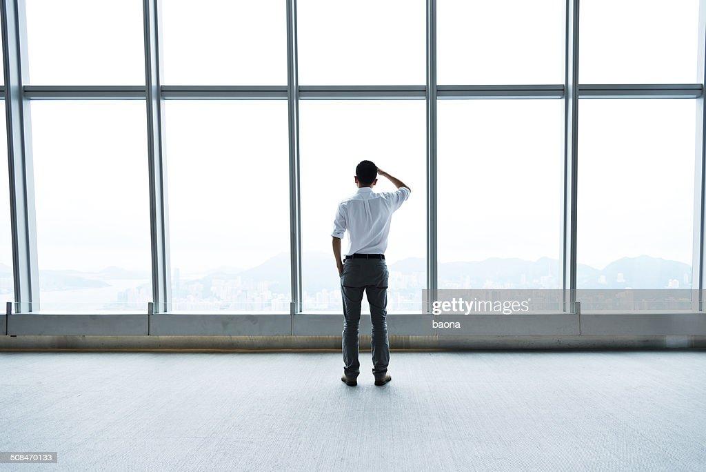looking through the window : Stock Photo