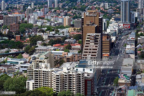 Looking towards Kings Cross and Eastern suburbs from Sydney Central Business District CBD Sydney New South Wales NSW Australia