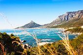 'Looking towards Lions Head, Cape Town, across the Atlantic Ocean'