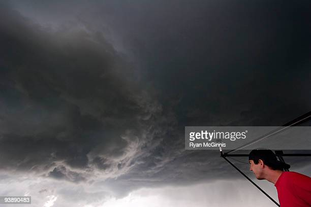 Looking up at a Forming Tornado