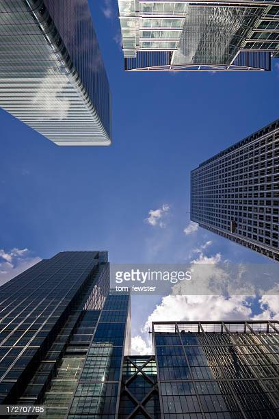 Looking up at Canary Wharf