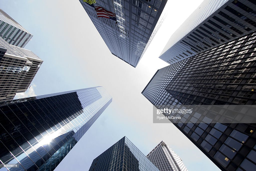Looking Up at Skyscrapers : Foto de stock
