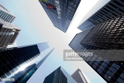 Looking Up at Skyscrapers : Stock Photo