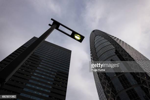 Looking Up Skyscrapers in Shinjuku