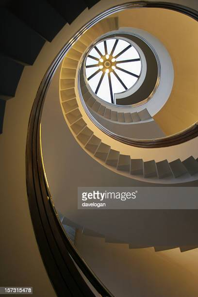 Looking Up The Spiral Staircase