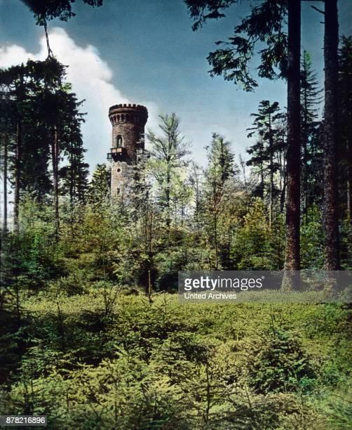Lookout at the top of Kickelhahn mountain near Ilmenau in Thuringia 1920s