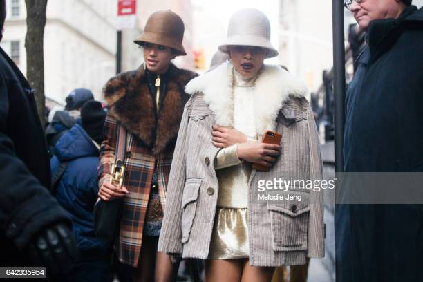 Looks from the Marc Jacobs show on the street on February 17 2017 in New York City