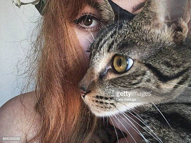 Looks - the cat and its human