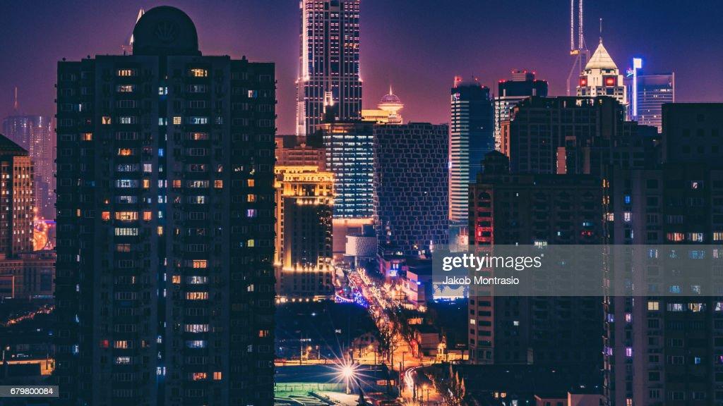 Looming Lights : Stock Photo