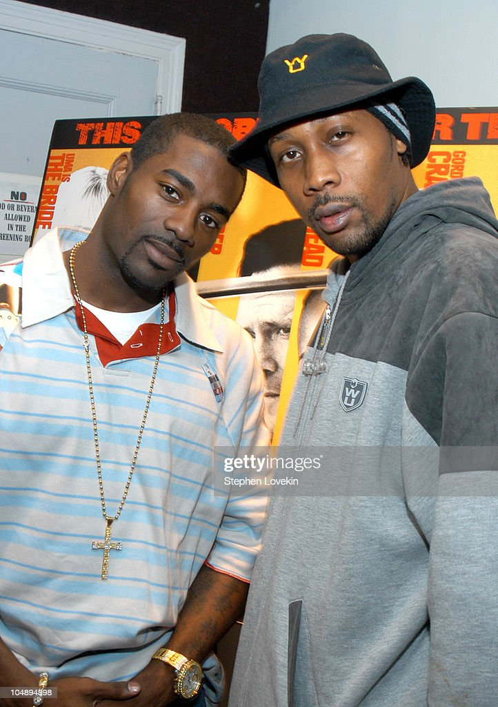Loon and The RZA during 'Kill Bill' Miramax's Private Screening Hosted By The RZA at Preview 9 Screening Room in New York City New York United States