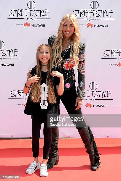 Loona and her daughter Zafira pose during day 1 of the Streetstyle@Gallery event at Areal Boehler on July 22 2016 in Duesseldorf Germany