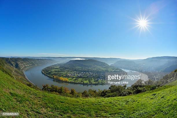 Loop of River Rhine with Sun