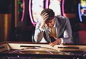 Man loosing at the Casino