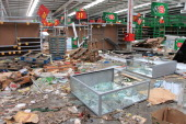 A looted store is seen in Banda del Rio Sali Tucuman province northern Argentina on December 10 2013 Seven people died overnight in looting in...