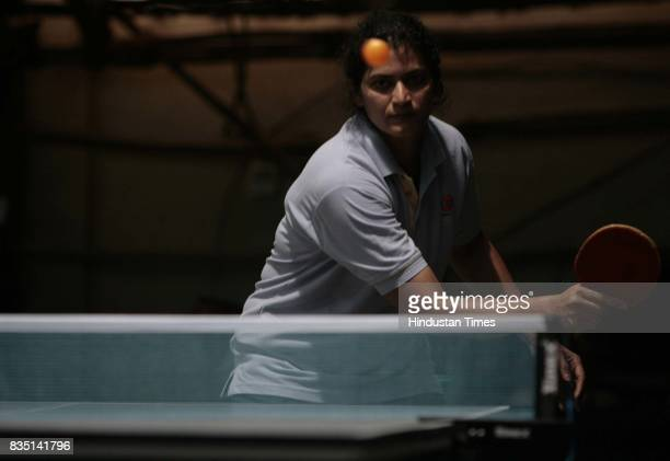 B Lopes plays inner club inner office Table Tennis competition at Santacurz Gymkhana on Friday