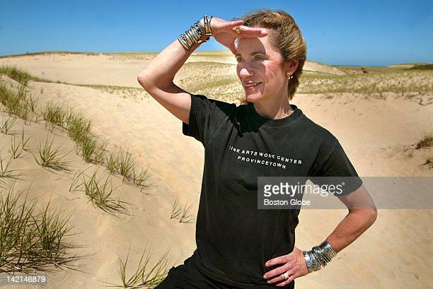 Lora Brody on the dunes at Snail Road near her Provincetown home She has a cookbook out called 'The Cape Cod Table'