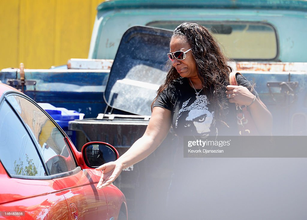 Lora King, daughter of Rodney King, cries as she leaves after her father was found dead on June 17, 2012 in Rialto, California. King, whose video beating by Los Angeles police in 1991 sparked riots after the acquittal of the four officers involved, was found dead at the age of 47 from an apparent drowning in his swimming pool.