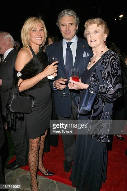 Lora Romanova Michael Nouri and Angela Lansbury during 2006 Movies for Grown Up Awards AARP Magazine Gala at Bel Air Hotel in Bel Air California...