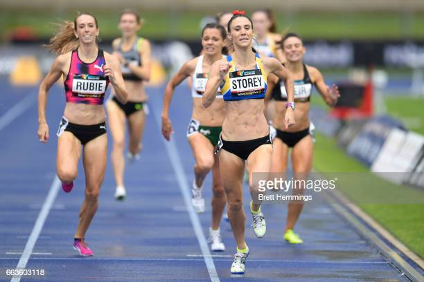 Lora Storey of NSW competes in the Open Womens 800m race during day eight of the 2017 Australian Athletics Championships at Sydney Olympic Park on...