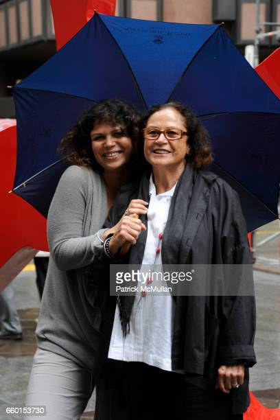 Loraine Moquay and Rotraut attend GALERIE GMURZYNSKA Celebrates YVES KLEIN ROTRAUT Sculptures Around Lugano on May 15 2009 in Lugano Switzerland