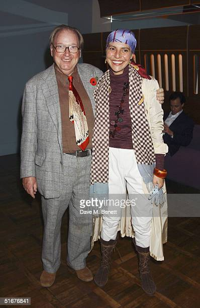 Lord Alistair McAlpine and wife Athena Malpas attend the party celebrating the launch of Tom ParkerBowles new book ' E Is For Eating' at Kensington...