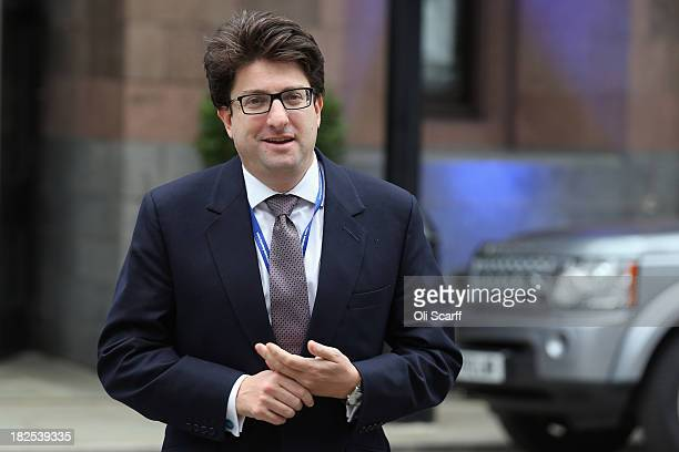 Lord Andrew Feldman the Conservative Party CoChairman arrives to attend Manchester Central on the second day of the Conservative Party Conference on...