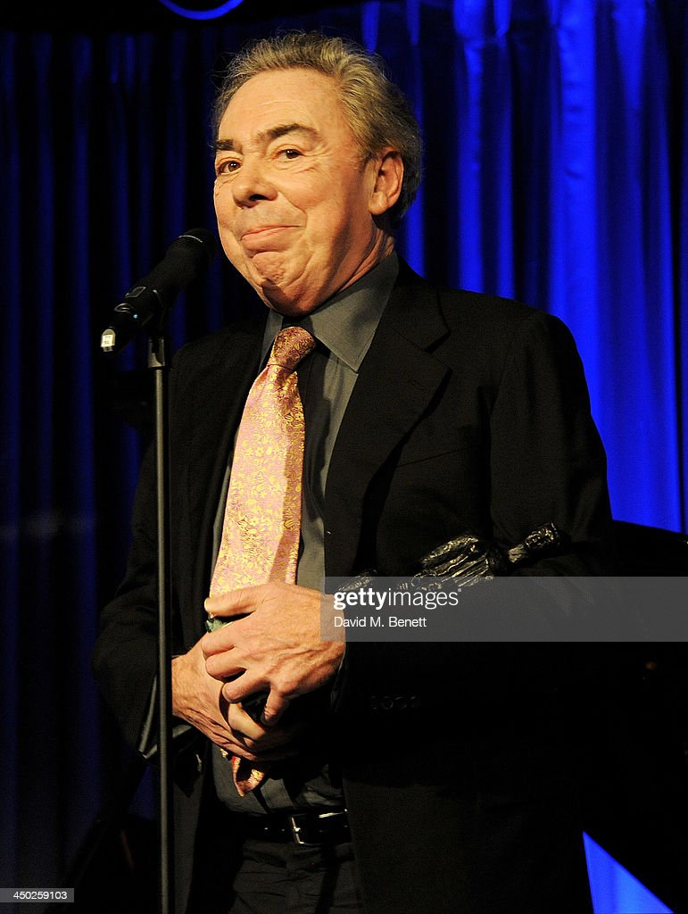 Lord <a gi-track='captionPersonalityLinkClicked' href=/galleries/search?phrase=Andrew+Lloyd+Webber&family=editorial&specificpeople=157705 ng-click='$event.stopPropagation()'>Andrew Lloyd Webber</a> accepts the Lebedev Special Award at the 59th London Evening Standard Theatre Awards at The Savoy Hotel on November 17, 2013 in London, England.