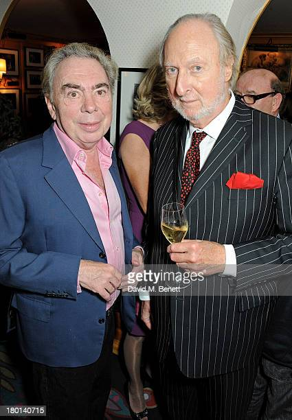 Lord Andrew Lloyd Webber and Ed Victor attend the Tatler Bystander exhibition featuring the 50 best party pictures of the past 50 years at Annabels...