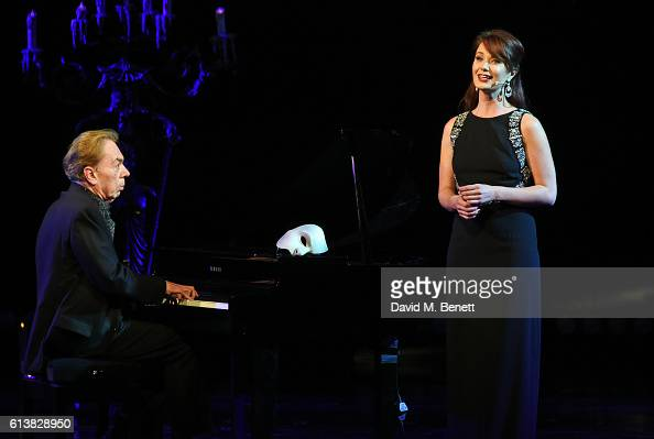 Lord Andrew Lloyd Webber and Sierra Boggess perform onstage at 'The Phantom Of The Opera' 30th anniversary charity gala performance in aid of The...