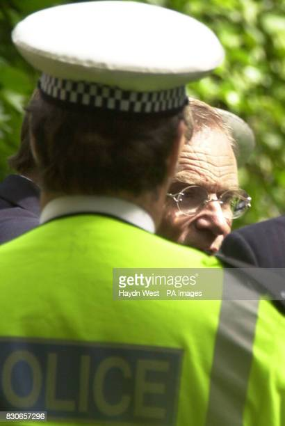 Lord Archer leaves Cambridge Crematorium in Madingley to get into a prison van following the funeral of his mother Lola Hayne Lola Hayne died 11 days...
