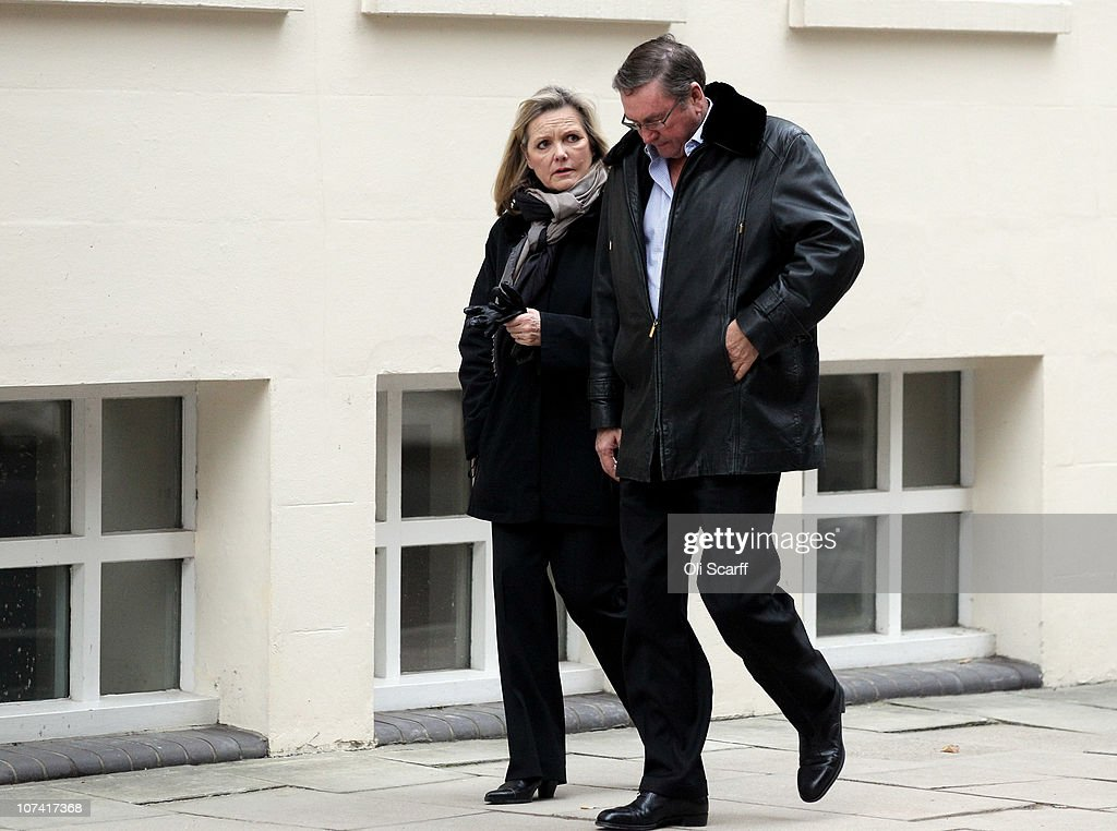 Lord Ashcroft and his wife Suzie walk along the street in Westminster on December 8, 2010 in London, England. Lord Ashcroft is in talks to sell his 37% sake in Watford football club, valued at 1.5 million GBP.