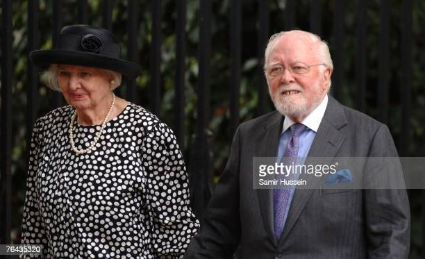 Lord Attenborough arrives at the 10th anniversary memorial service for Diana Princess Of Wales held at the Guards Chapel on August 31 2007 in London...