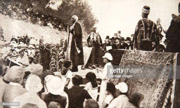 Lord Balfour speaking at the Hebrew University Jerusalem Palestine 1927 Arthur James Balfour was a British Conservative politician In 1917 when...