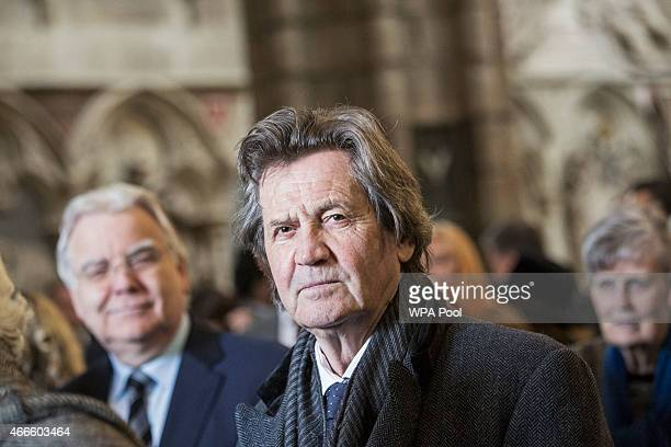 Lord Bragg attends a service of thanksgiving for the life and work of Lord Attenborough CBE at Westminster Abbey on March 17 2015 in London England