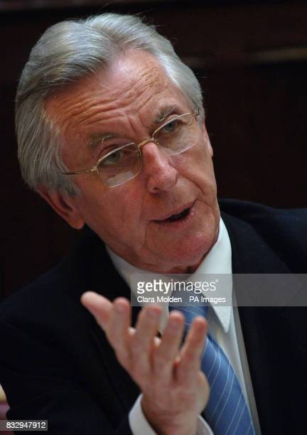 Lord Brennan QC addresses a news conference in Westminister about a government assistance scheme proposed in a Private Members Bill to give...