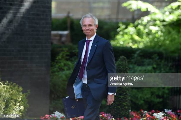 Lord Chancellor and Secretary of State for Justice David Lidington arrives at Downing Street in London United Kingdom on June 13 2017 The Prime...