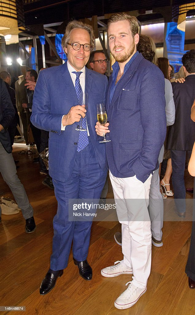Lord Charles March and Harry Lawson Johnston attend the after party of Belstaff s/s 2013 collection, as part of London Collections: MEN at 50 St James on June 16, 2012 in London, England.