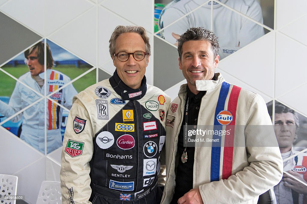 Lord Charles March (L) and Patrick Dempsey attend the TAG Heuer Drivers Club at the Goodwood Festival Of Speed on June 25, 2016 in Chichester, England.