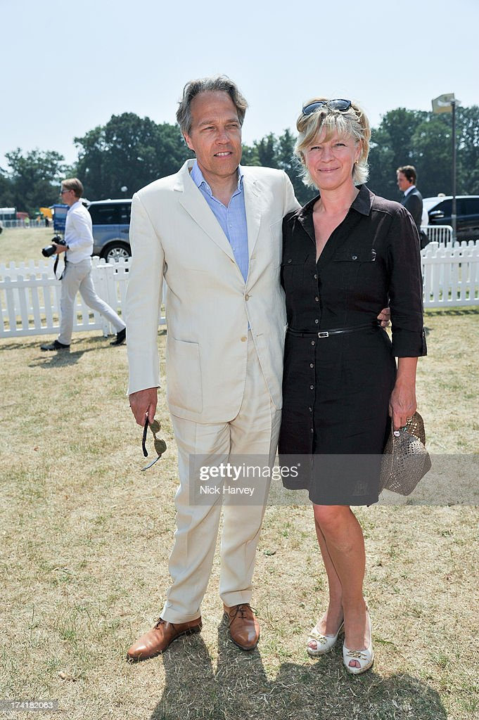 Lord Charles March with wife Lady Janet March attend the Veuve Clicquot Gold Cup final at Cowdray Park Polo Club on July 21, 2013 in Midhurst, England.