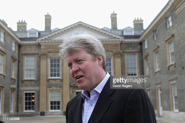 Lord Charles Spencer the 9th Earl Spencer looks on during the Northamptonshire CCC photocall held at Althorp House on March 30 2011 in Northampton...