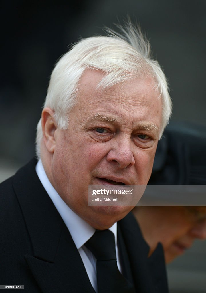 Lord <a gi-track='captionPersonalityLinkClicked' href=/galleries/search?phrase=Chris+Patten&family=editorial&specificpeople=85614 ng-click='$event.stopPropagation()'>Chris Patten</a> looks on after the Ceremonial funeral of former British Prime Minister Baroness Thatcher at St Paul's Cathedral on April 17, 2013 in London, England. Dignitaries from around the world today join Queen Elizabeth II and Prince Philip, Duke of Edinburgh as the United Kingdom pays tribute to former Prime Minister Baroness Thatcher during a Ceremonial funeral with military honours at St Paul's Cathedral. Lady Thatcher, who died last week, was the first British female Prime Minister and served from 1979 to 1990.