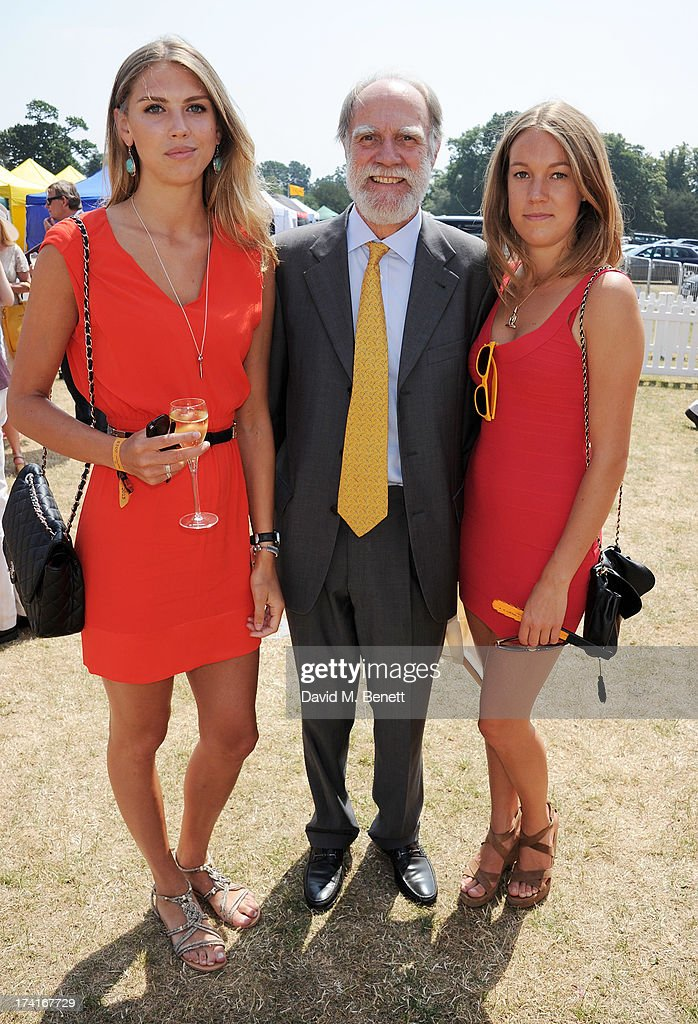 Lord Cowdray (C) attends the Veuve Clicquot Gold Cup Final at Cowdray Park Polo Club on July 21, 2013 in Midhurst, England.