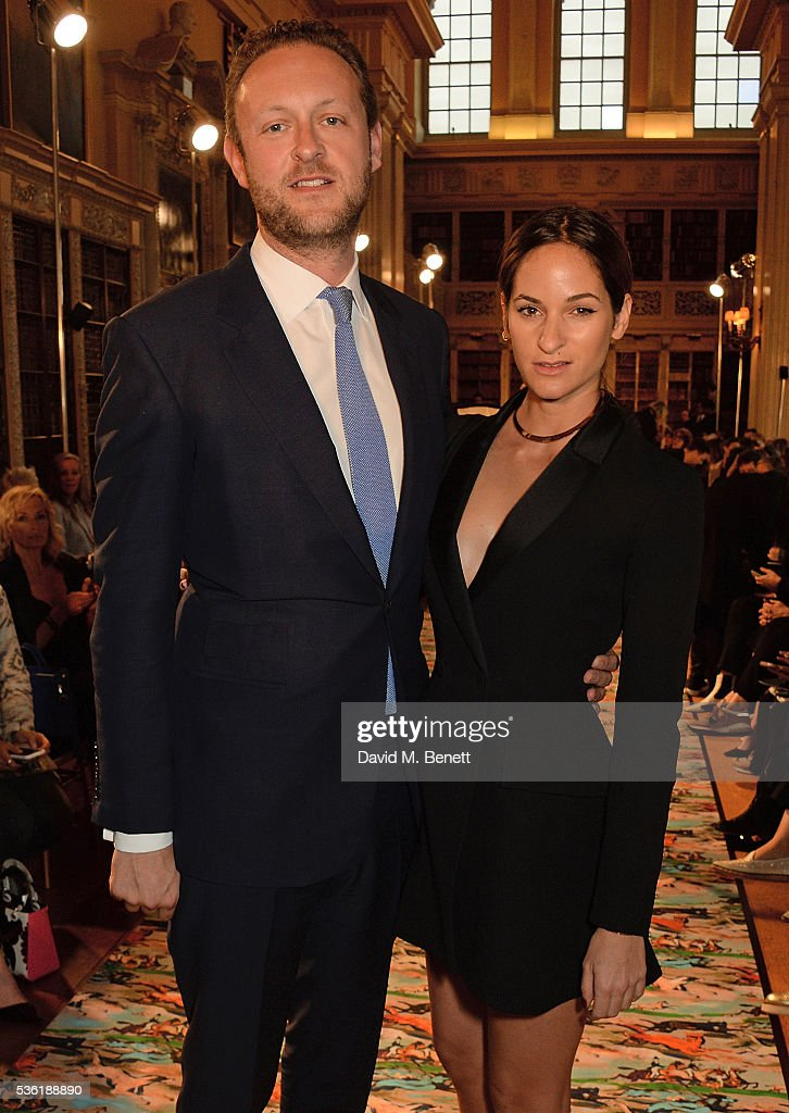 Lord Edward Spencer-Churchill and Kimberley Hammerstroem attend as Christian Dior showcases its spring summer 2017 cruise collection at Blenheim Palace on May 31, 2016 in Woodstock, England.