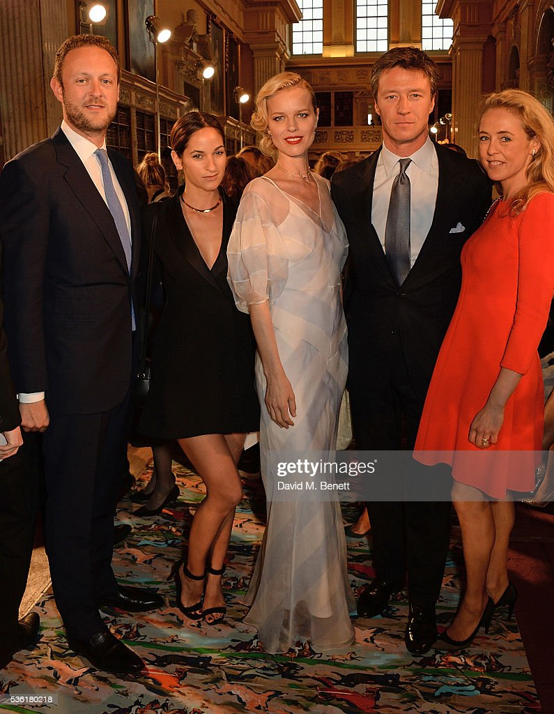 Lord Edward Spencer-Churchill, Kimberley Hammerstroem, <a gi-track='captionPersonalityLinkClicked' href=/galleries/search?phrase=Eva+Herzigova&family=editorial&specificpeople=156428 ng-click='$event.stopPropagation()'>Eva Herzigova</a>, <a gi-track='captionPersonalityLinkClicked' href=/galleries/search?phrase=Gregorio+Marsiaj&family=editorial&specificpeople=2211905 ng-click='$event.stopPropagation()'>Gregorio Marsiaj</a> and Lady <a gi-track='captionPersonalityLinkClicked' href=/galleries/search?phrase=Alexandra+Spencer-Churchill&family=editorial&specificpeople=235362 ng-click='$event.stopPropagation()'>Alexandra Spencer-Churchill</a> attend as Christian Dior showcases its spring summer 2017 cruise collection at Blenheim Palace on May 31, 2016 in Woodstock, England.