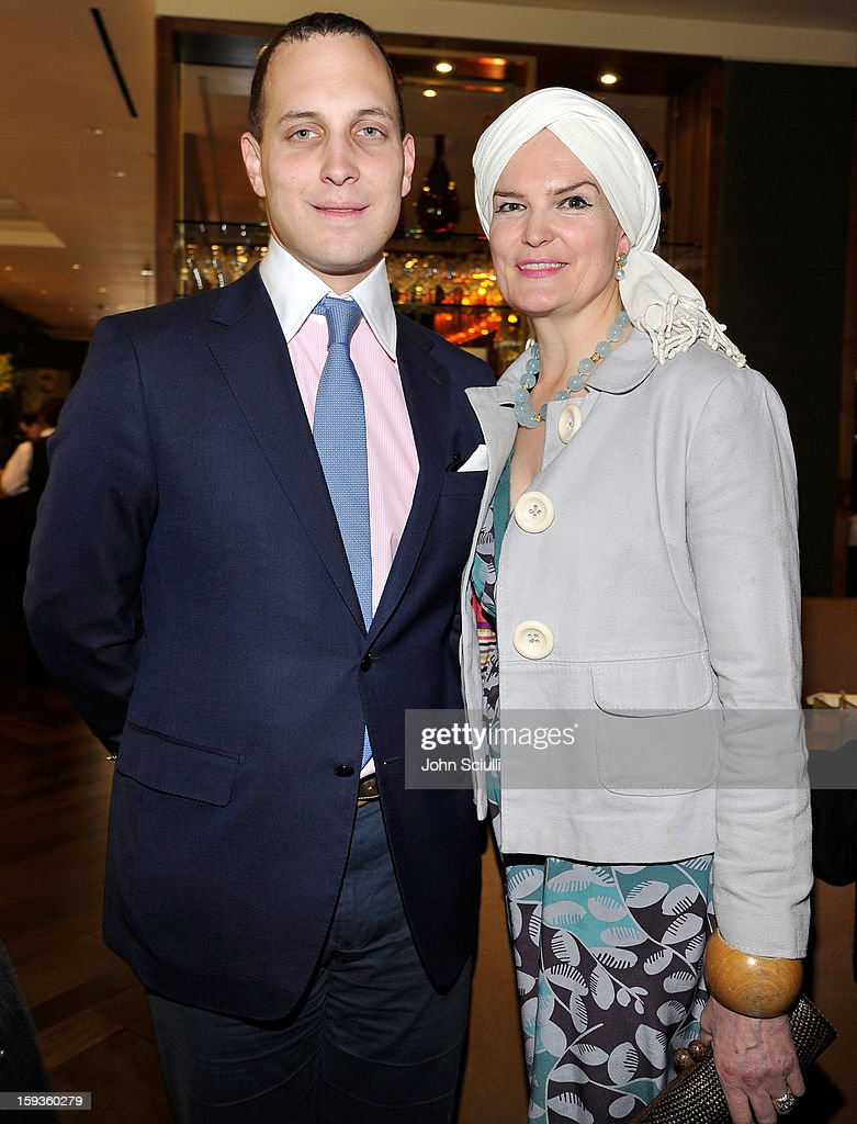 Lord Frederick Windsor and Emma Joy Kitchener attend a Golden Globe lunch hosted by BritWeek chairman Bob Peirce honoring Julian Fellowes, Gareth Neame and Michelle Dockery at Four Seasons Hotel Los Angeles at Beverly Hills on January 12, 2013 in Beverly Hills, California.