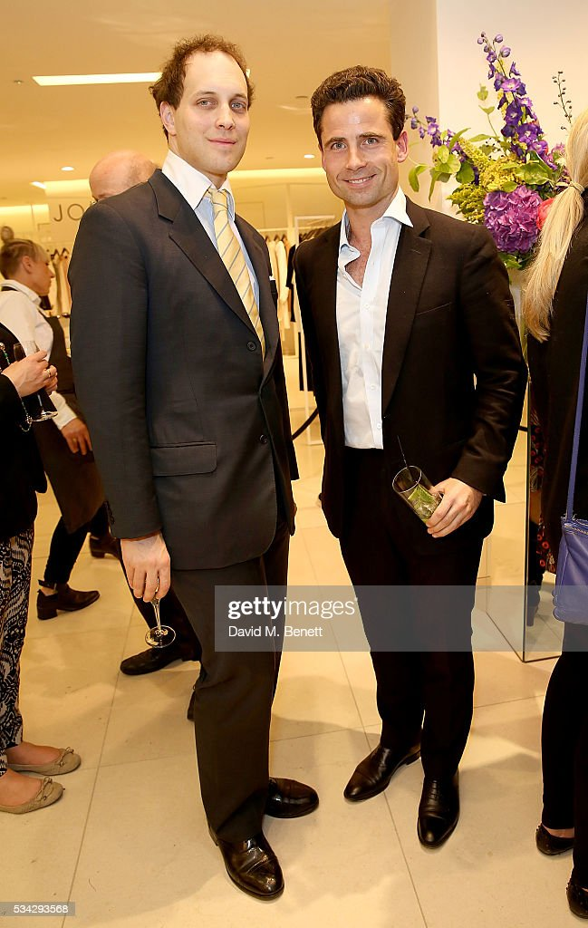 <a gi-track='captionPersonalityLinkClicked' href=/galleries/search?phrase=Lord+Frederick+Windsor&family=editorial&specificpeople=159599 ng-click='$event.stopPropagation()'>Lord Frederick Windsor</a> (L) and Leo Fenwick attend 'Decades of Drama' at Fenwicks Bond Street on May 25, 2016 in London, England.
