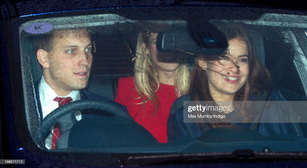 Lord Frederick Windsor, Lady Gabriella Windsor and Lady Sophie Windsor attend a Christmas lunch for members of the Royal Family hosted by Queen Elizabeth II at Buckingham Palace on December 19, 2012 in London, England.